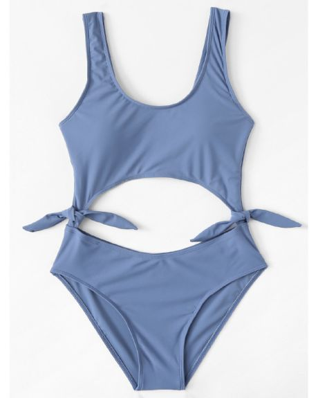 93afeef6fa Knot side Cut Out Swimsuit - Hinted