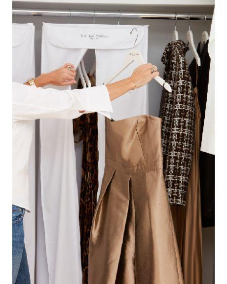 63baae76f3fb Cotton Hanging Dress Storage Bag - White - Hinted