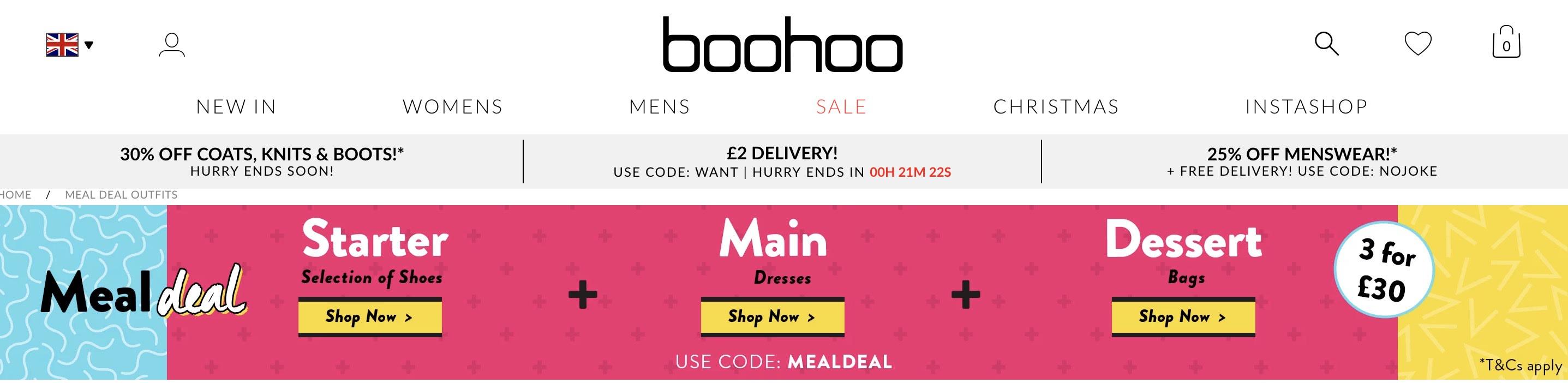 BooHoo Meal Deal
