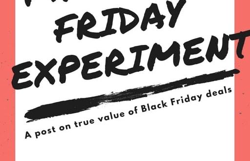 Black Friday 2017 experiment