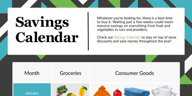 all year money saving calendar