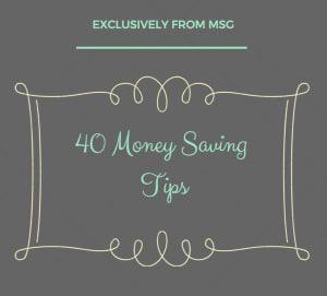 40 Simple Money Savin Tips