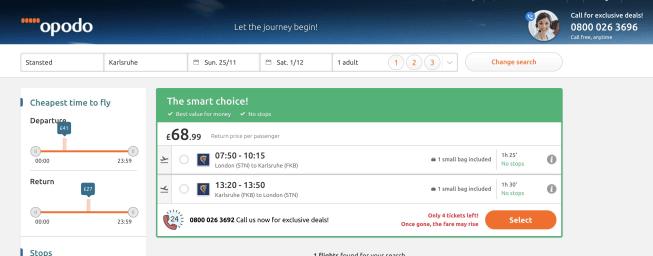 Opodo flight check