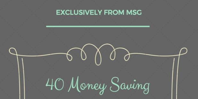 40 Simple Money Saving Tips