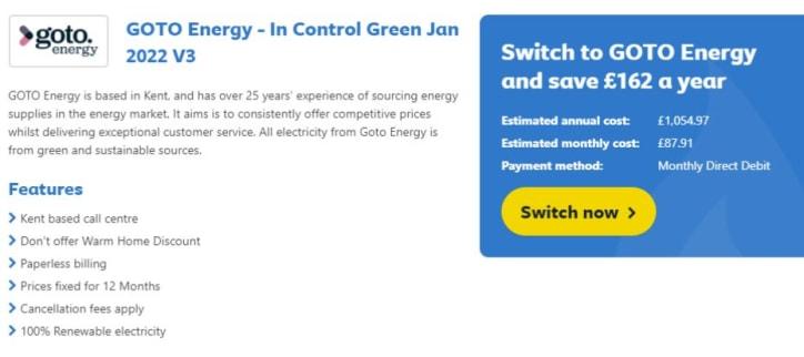 GOTO Energy Tariff