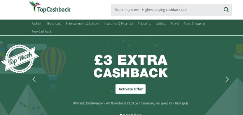 £3 extra cashback