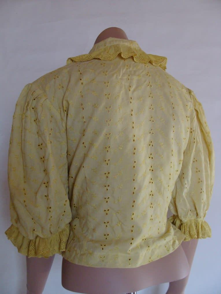 caraco coton dentelle