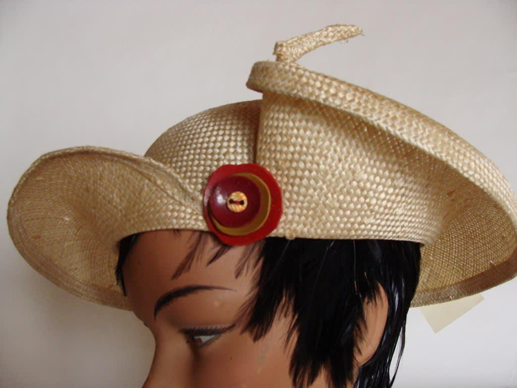Chapeau de paille naturelle parasisal Tourbillon