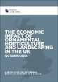 The economic impact of ornamental horticulture and landscaping in the UK