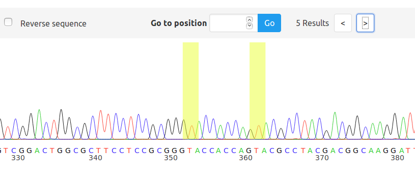 Web-based visualization tool for Sanger DNA sequencing results