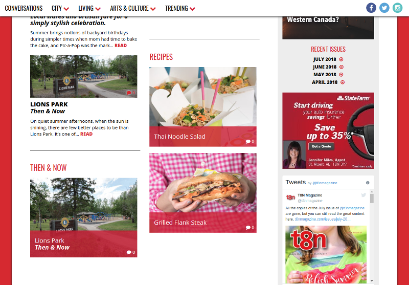 Online version of St. Albert's monthly magazine