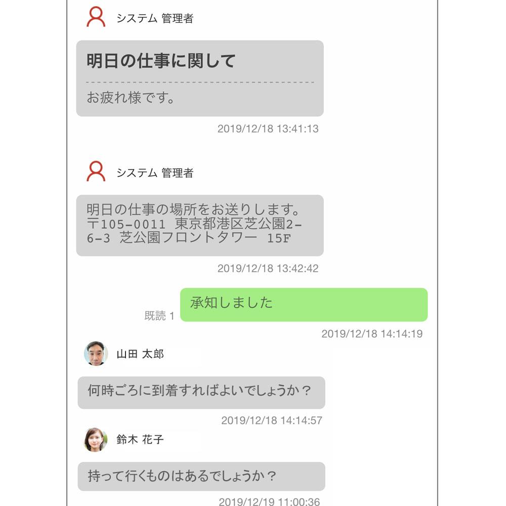 グループメッセージの作成