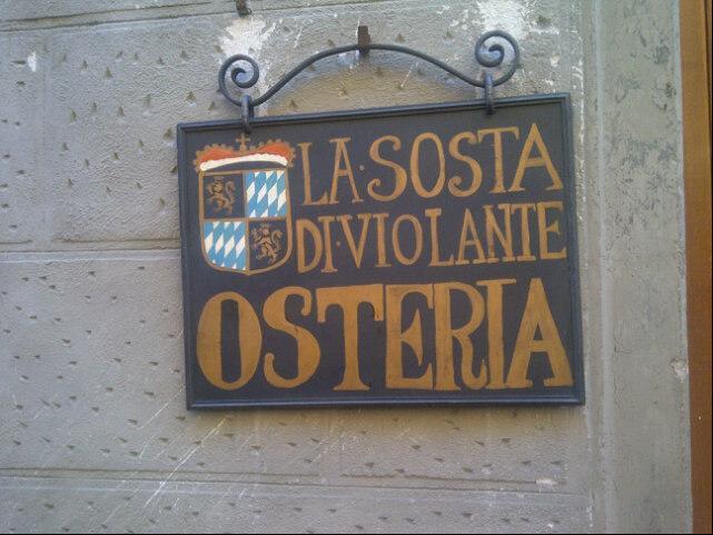 Reasons to eat out in Siena - La Sosta Di Violante