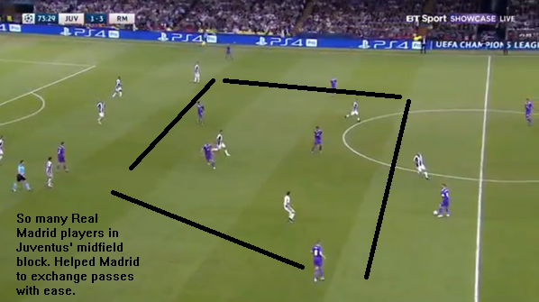 Zidane changed the tactic in the second half