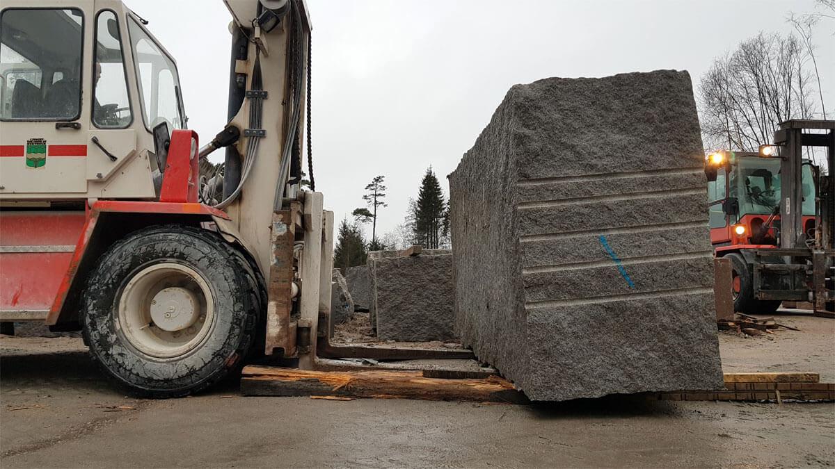 blok Noors graniet