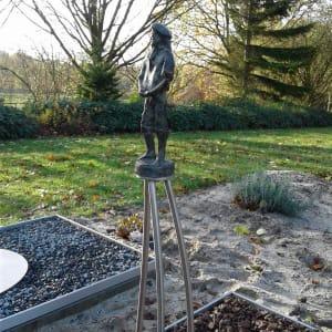 gedenkteken Bronzen beeldje - grafkunst - graf vader