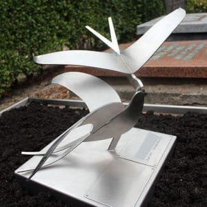 RVS grafmonument vogels