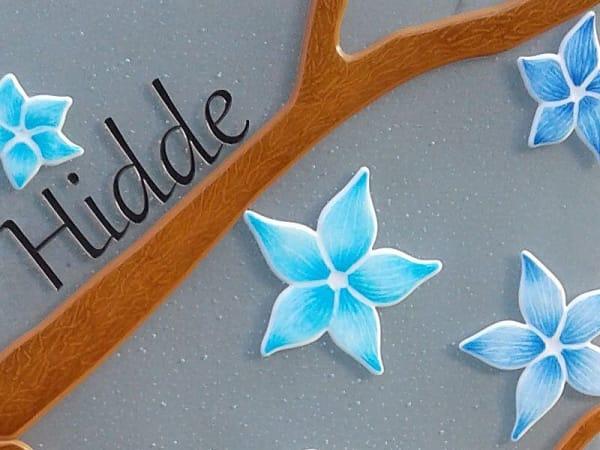 textuur Kindergrafsteen van glas