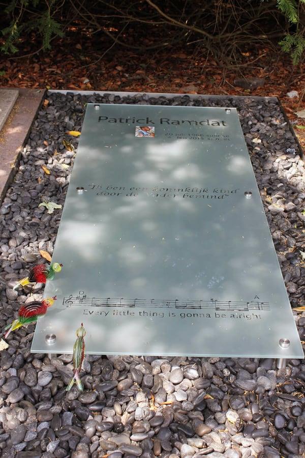 grafsteen glas met foto