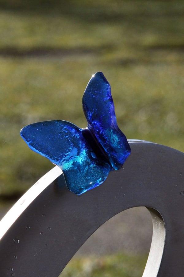grafsteen baby -blauwe-vlinder