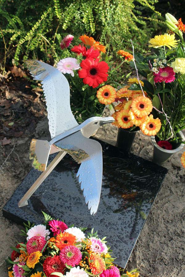 albatros vogel rvs grafkunst urnengraf
