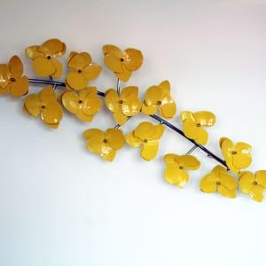 orchideetak-sculptuur-RVS met kleur