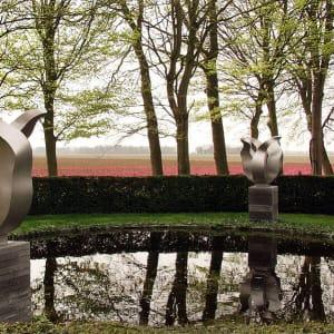 RVS-tulp tuinbeelden-in-tuin-