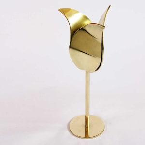 award gouden tulp van spiegelend brons