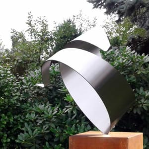 RVS kunstopdracht-prive tuin