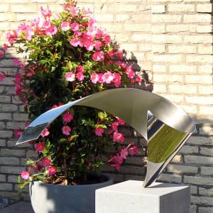 Wave- kunstopdracht exclusief sculptuur van RVS voor tuin en terras