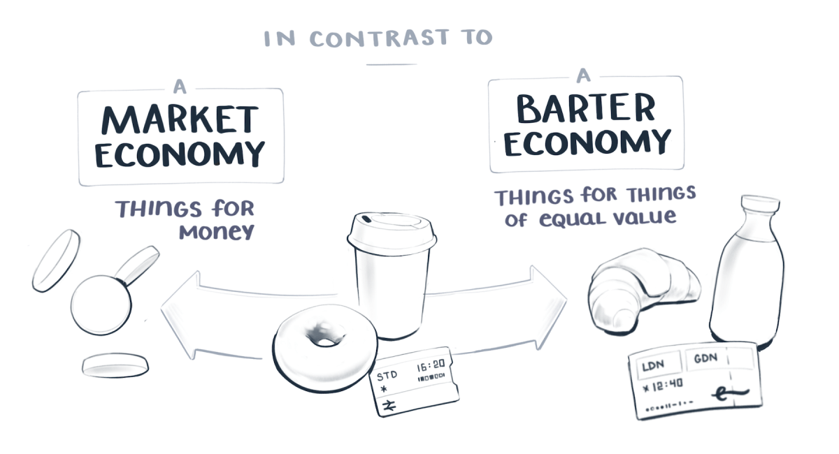 We often contrast gift economies with market or barter economies