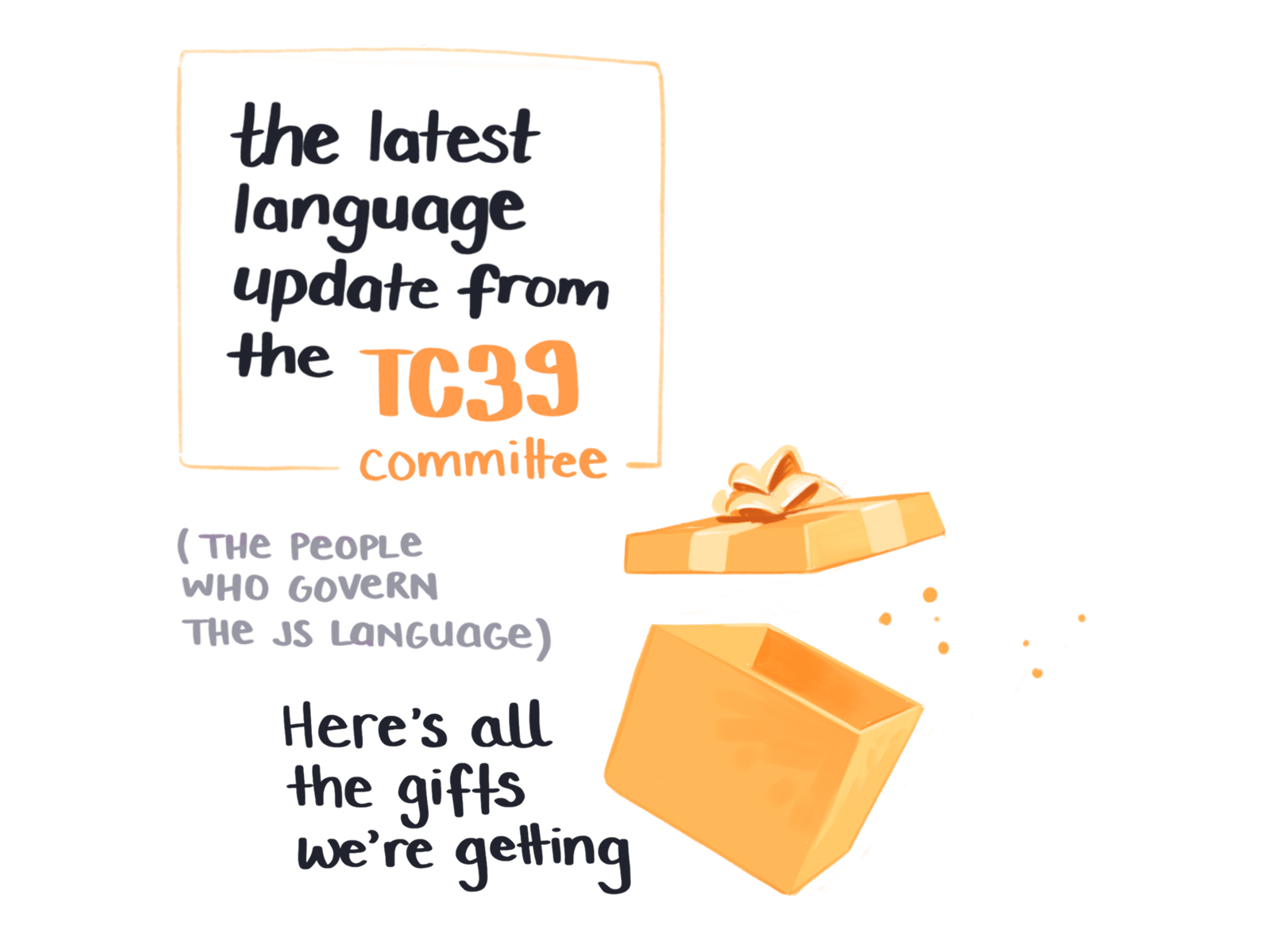 Gifts in the latest language update from the TC39 committee