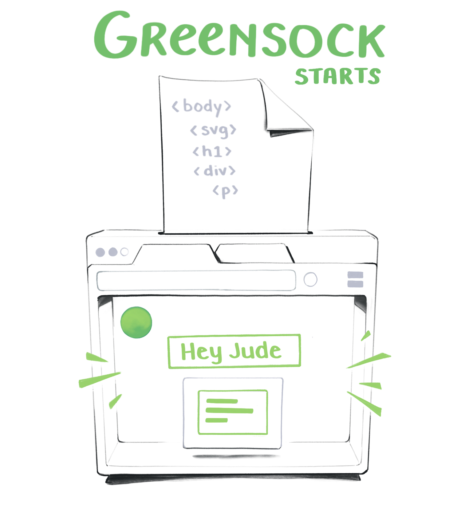 Greensock animation changes DOM nodes