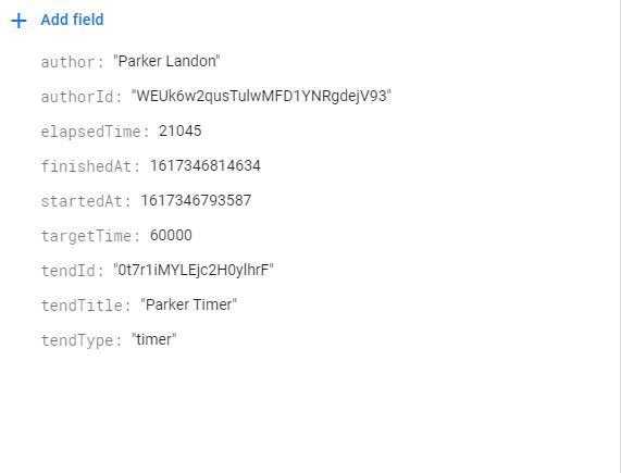 Timer Trend Data Stored in Firebase