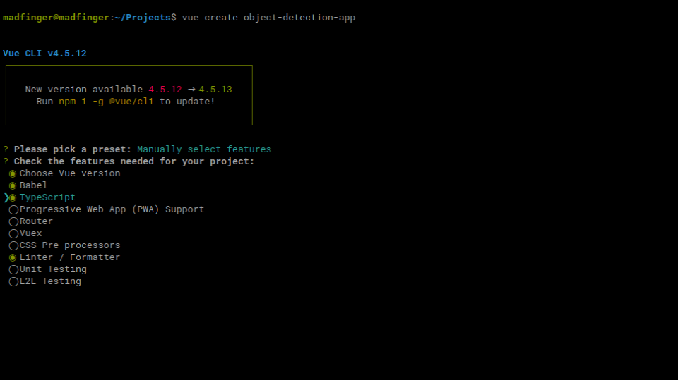 Selected typescript