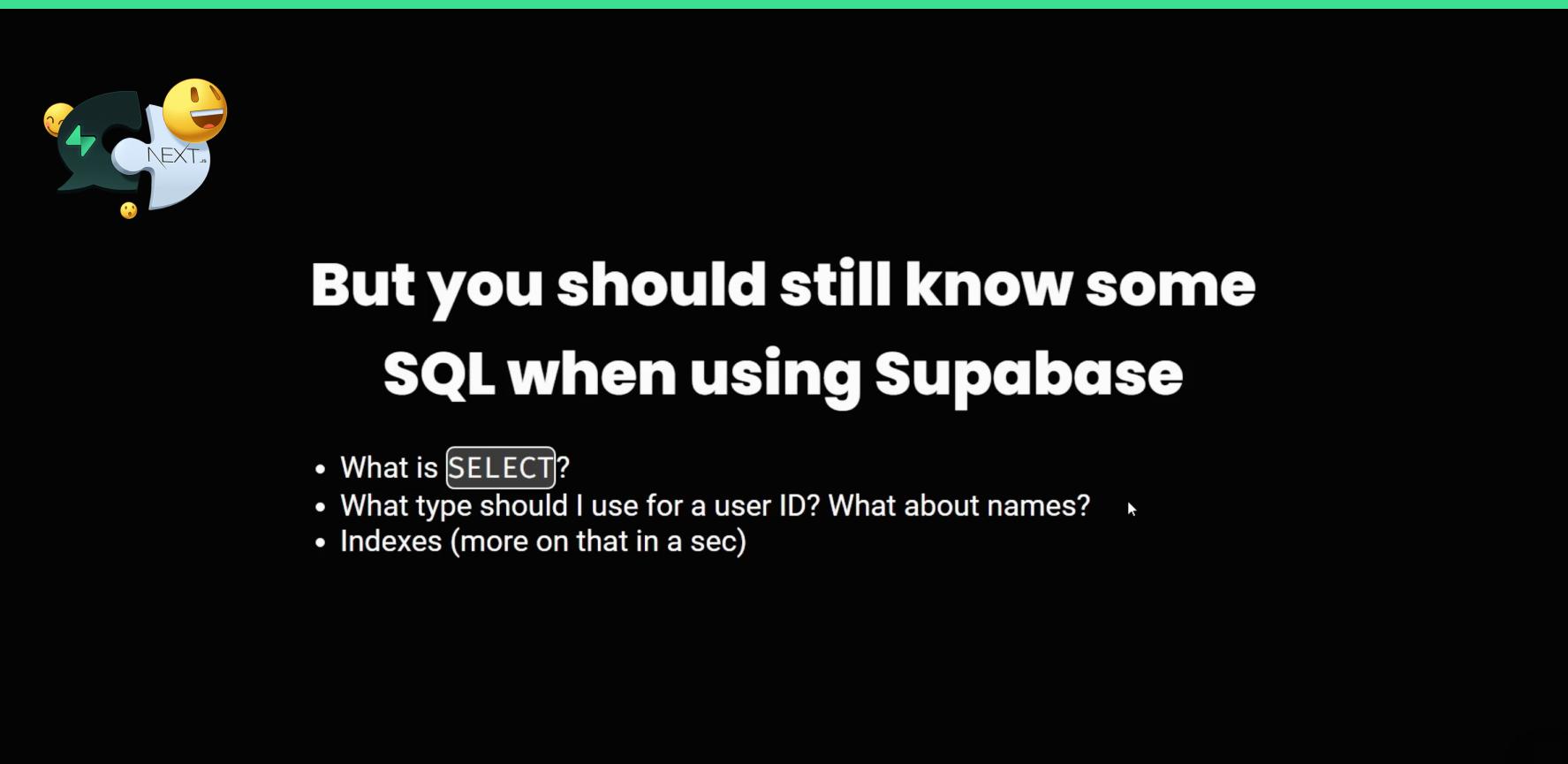 SQL for Supabase