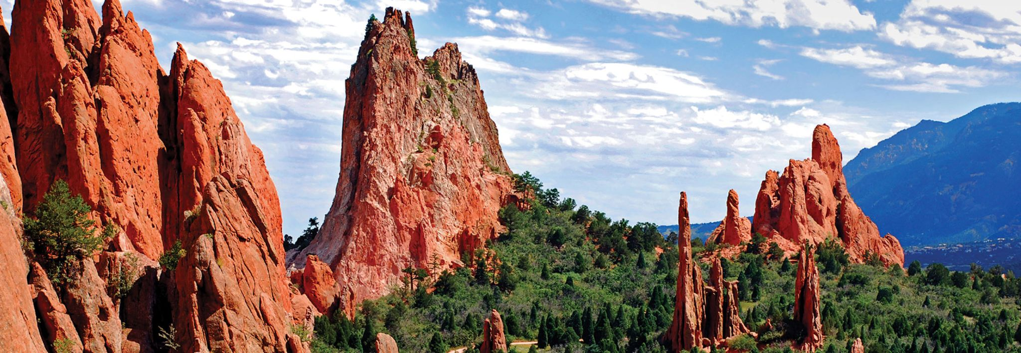 Close up view of the Garden of the Gods, which is near CCU's Colorado Springs campus.