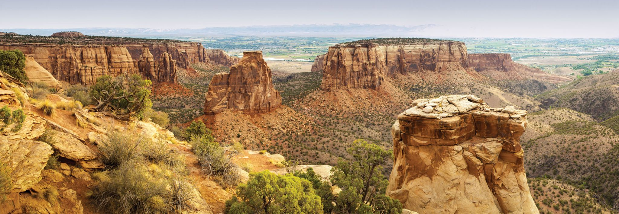 View of the national monument in Grand Junction next to CCU's Grand Junction center.