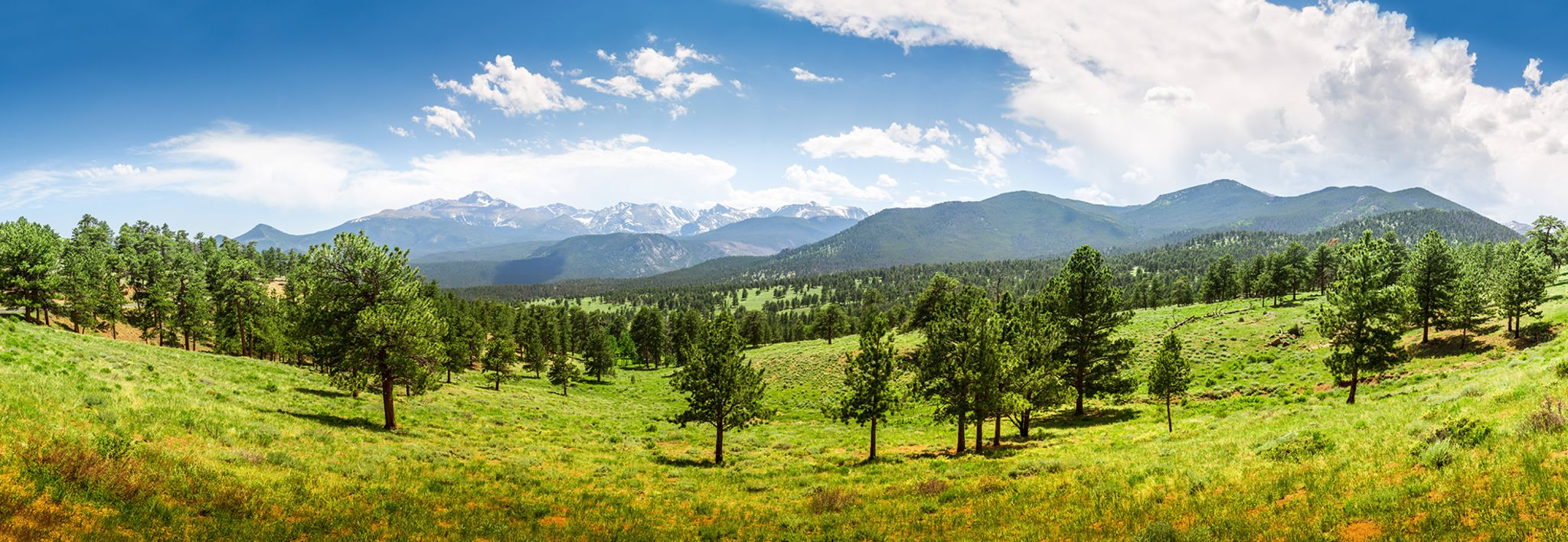 View of the mountains from Rocky Mountain National Park.