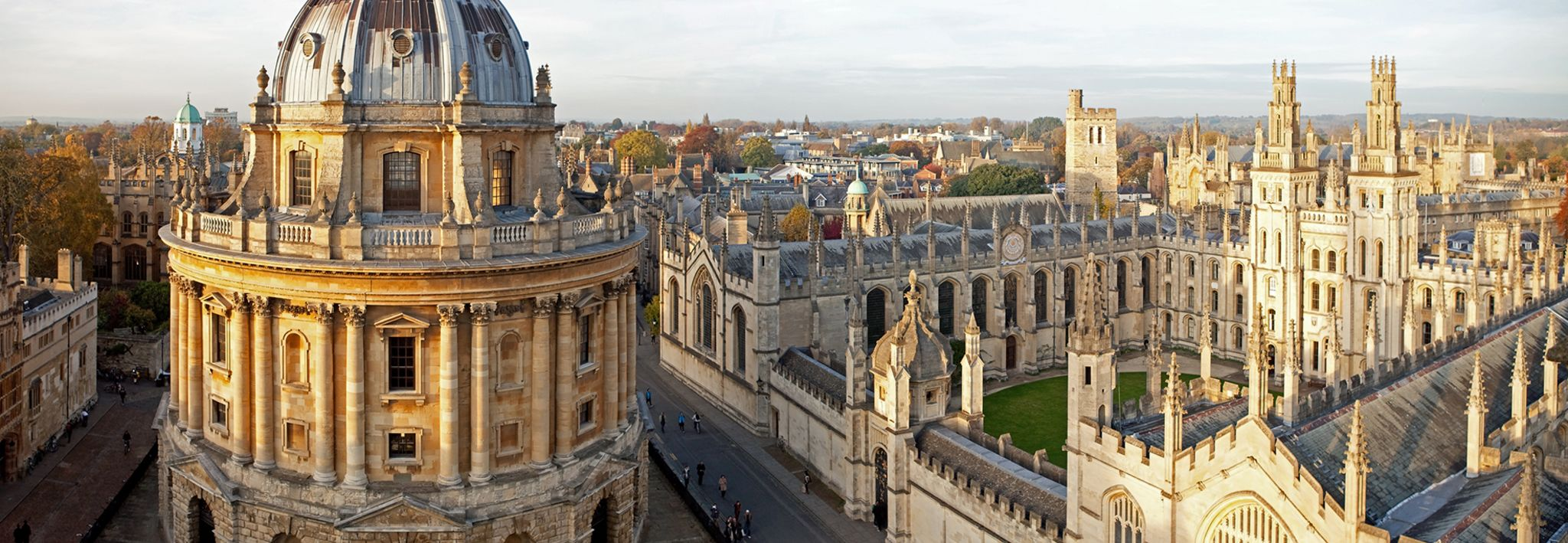 Oxford University's stunning campus.