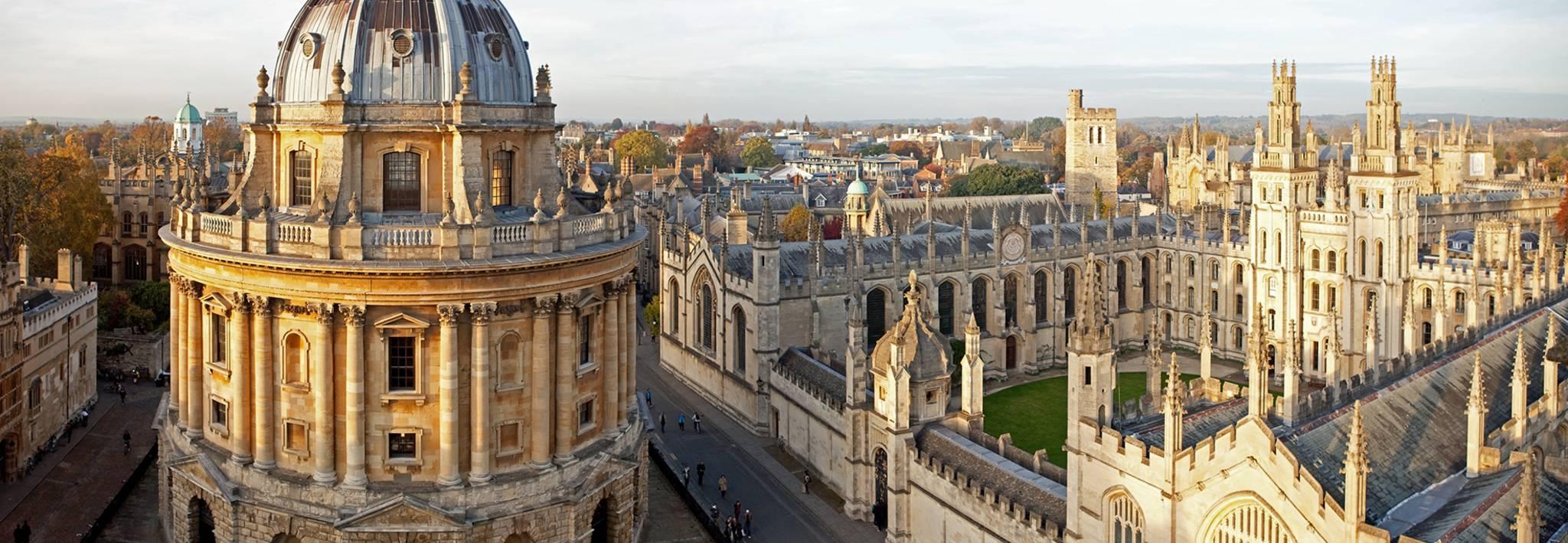 Oxford University's stunning campus.