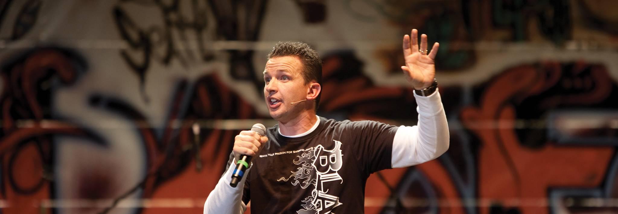 Professional speaker Greg Stier is speaking to Colorado Christian University students.