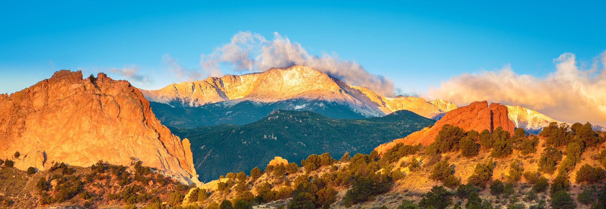 View of Pikes Peak.
