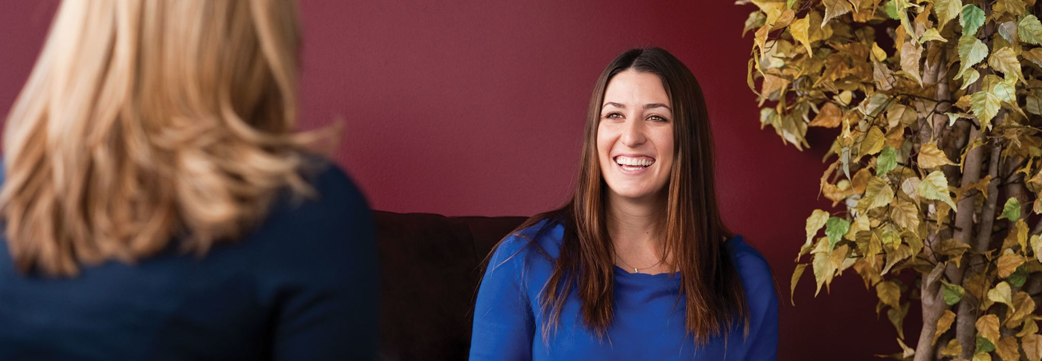 Colorado Christian University College of Adult and Graduate studies student at an interview.