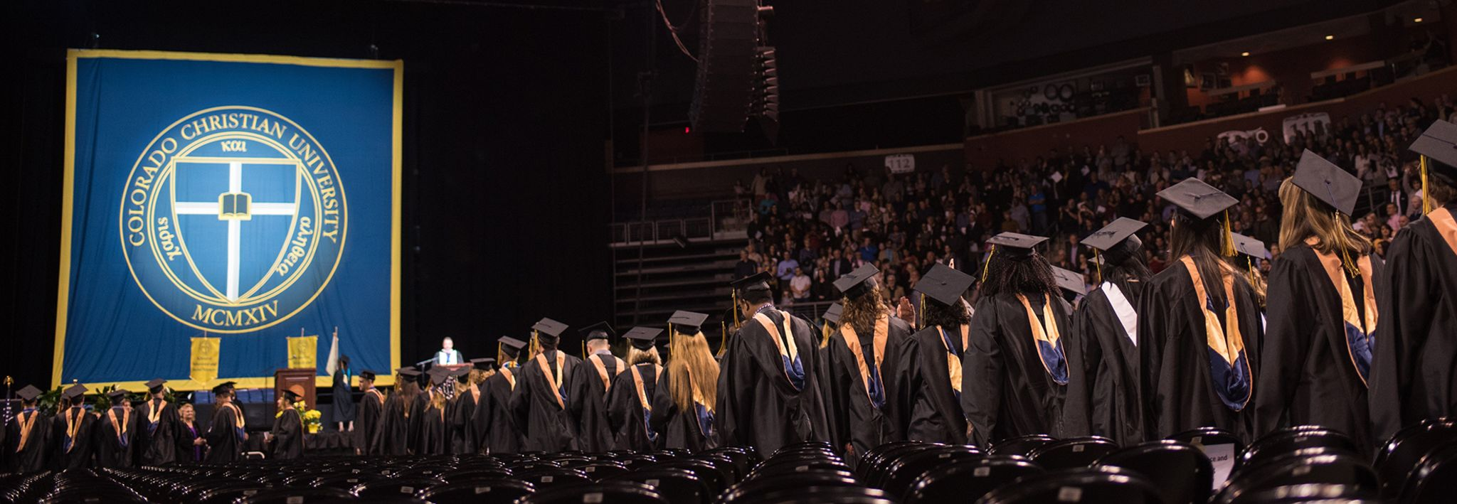 Students graduating from Colorado Christian University.
