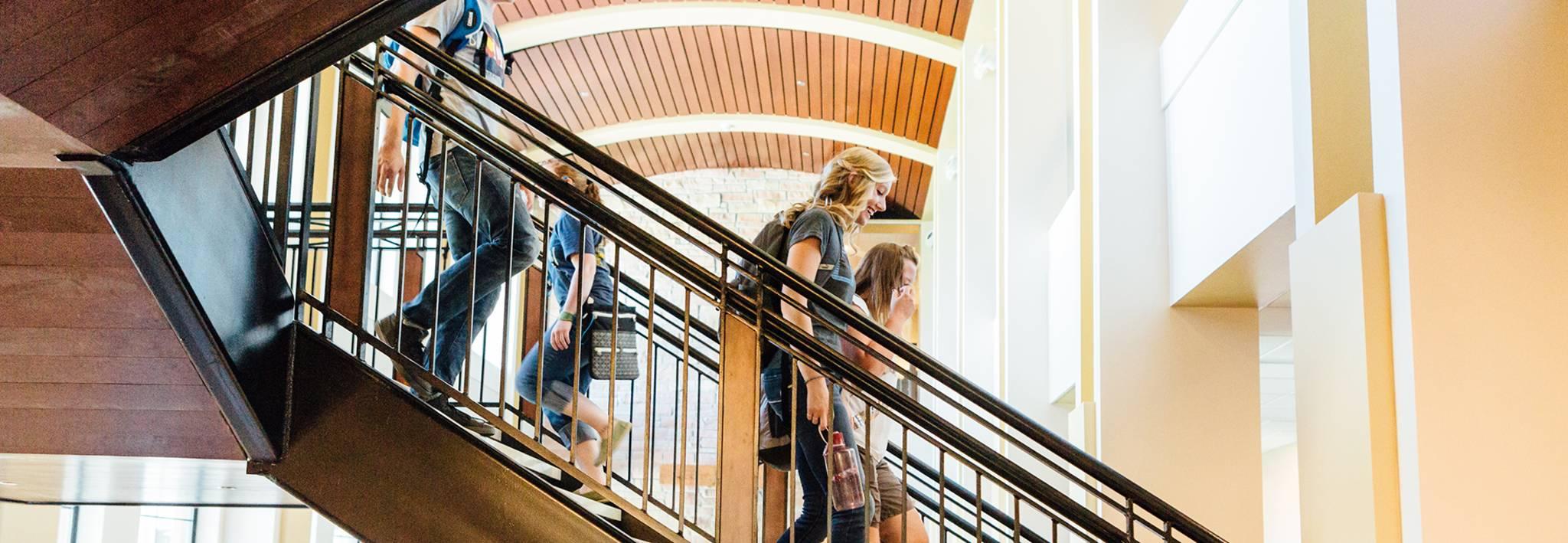 Colorado Christian University students in Leprino Hall.