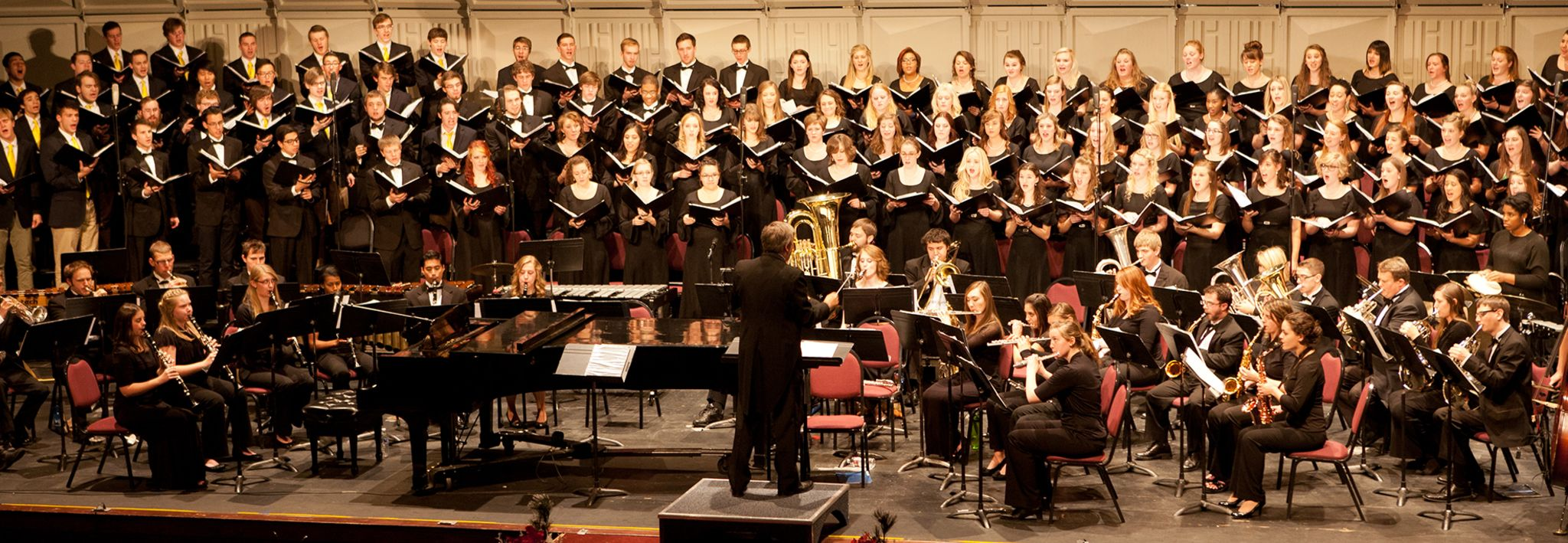 CCU's School of Music performing in a concert.