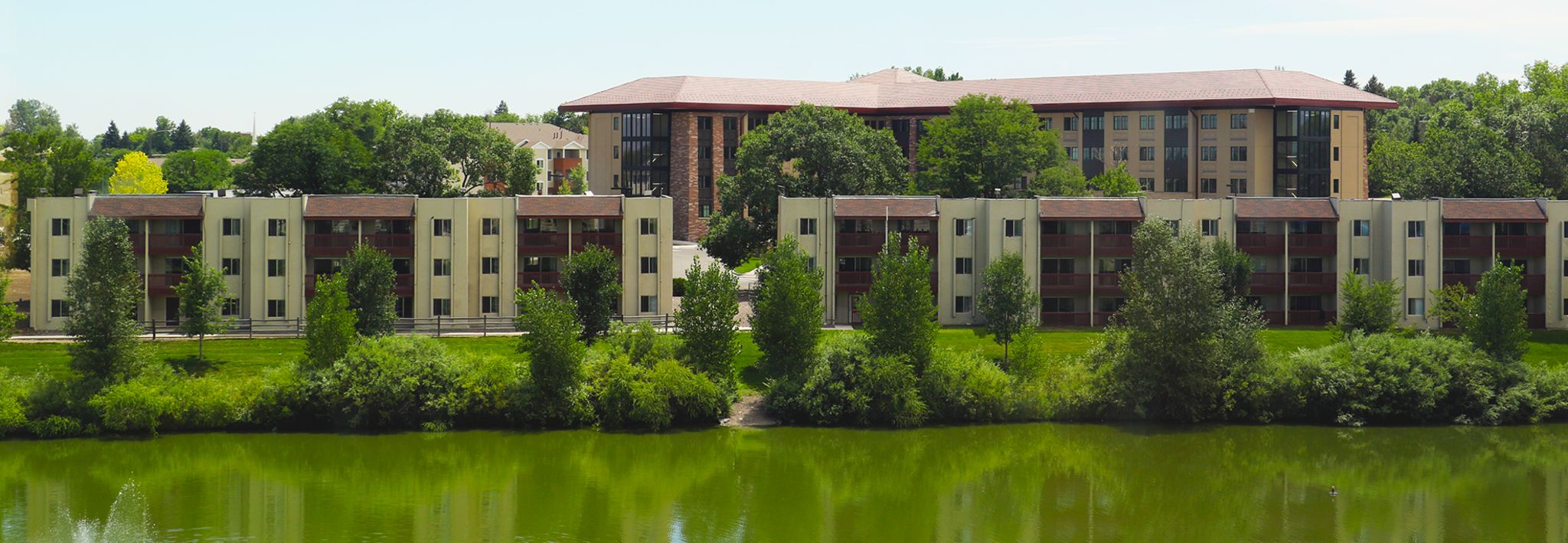 The Harwood and Waite apartments are located on the CCU Lakewood campus.