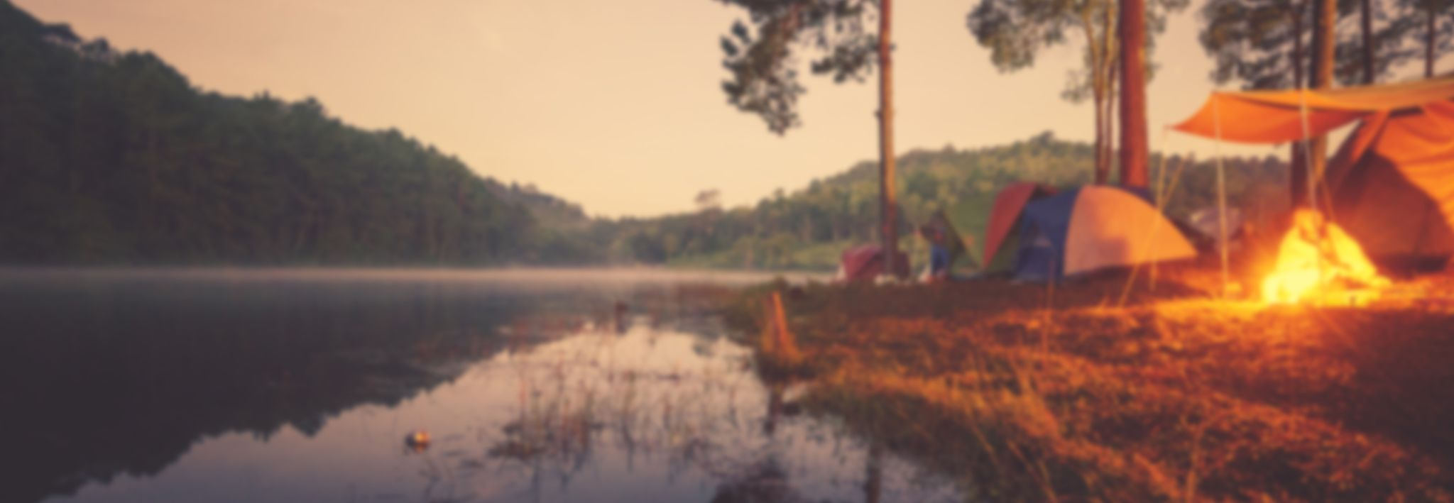 Artsy picture of CCU students camping.