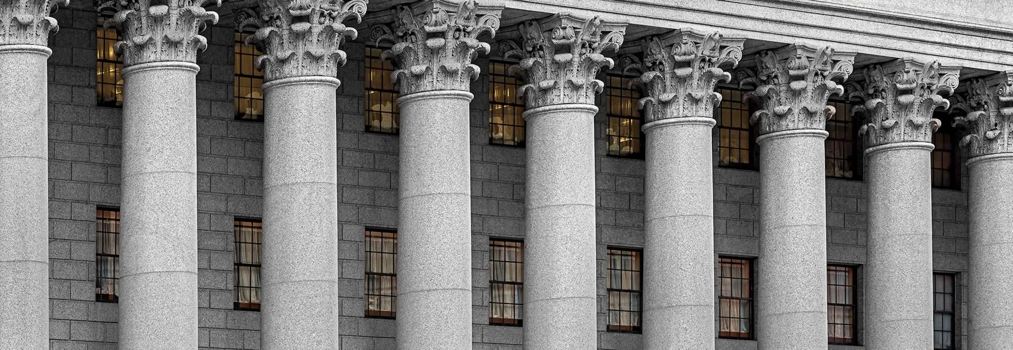 Courthouse pillars.